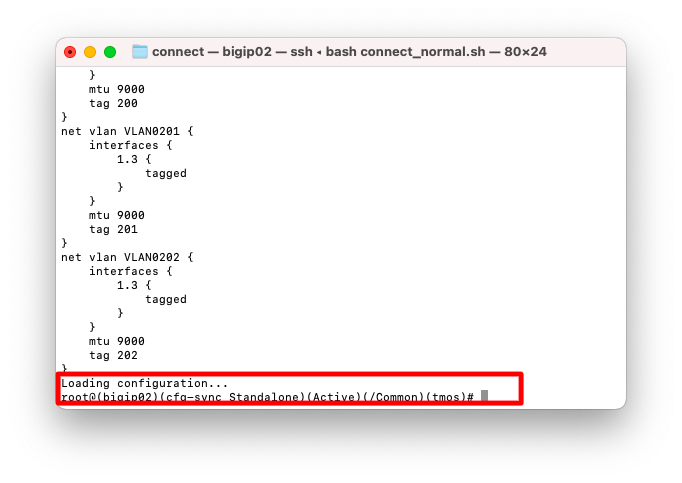 load sys config merge from-terminal 03